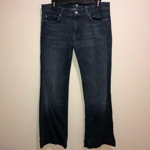7 For All Mankind Dojo Dark Wash Jeans Sz 31